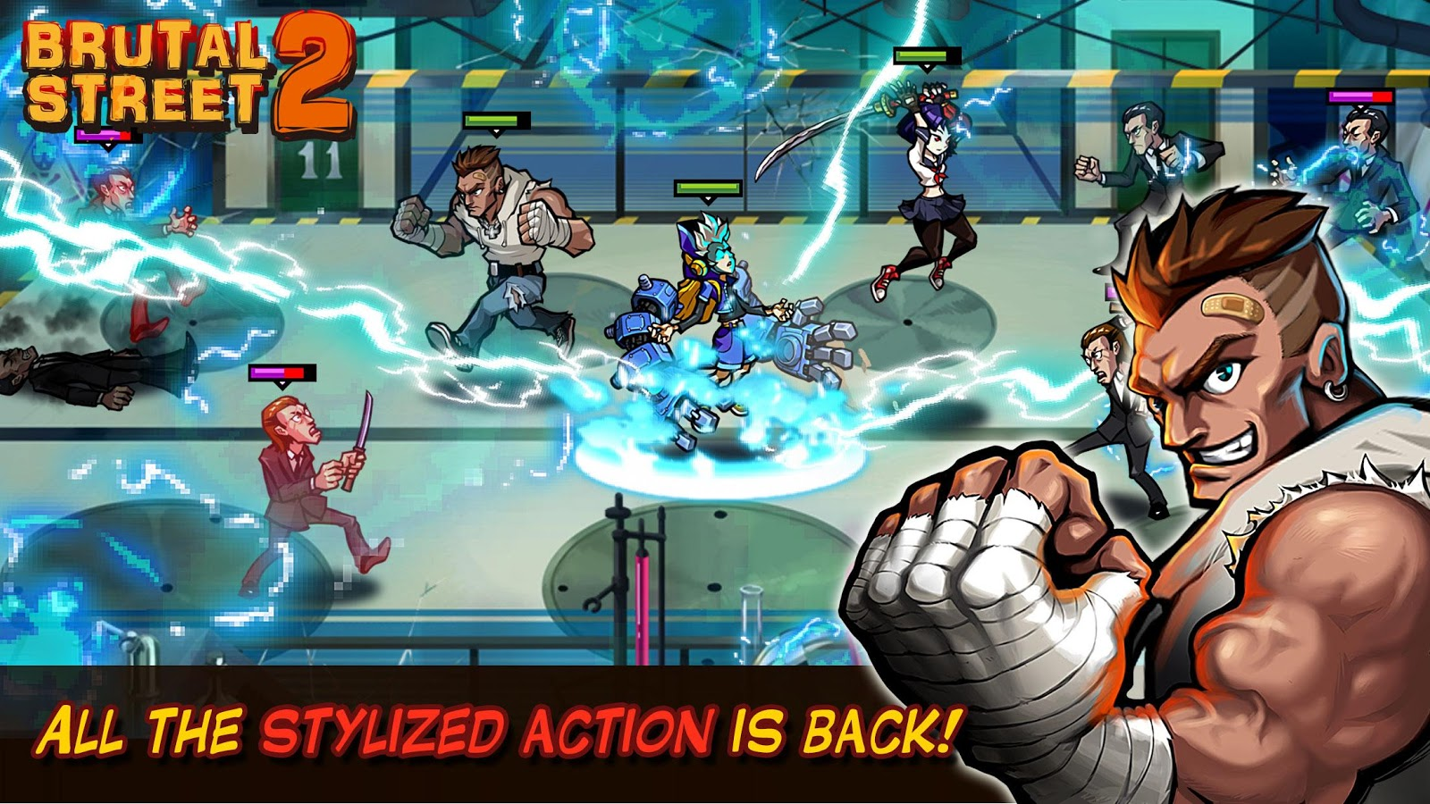 Down-load a game Brutal Street 2 For Android tablets